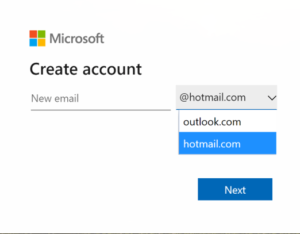 Hotmail Outlook Signup