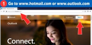sign in hotmail step 1