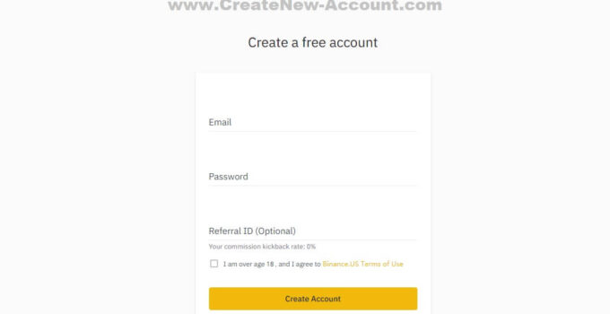 Create New Binance Account