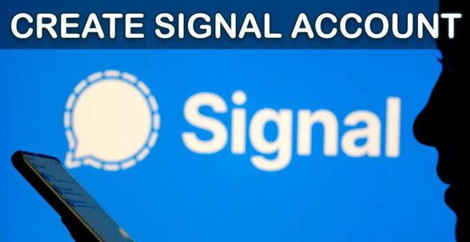 create signal account