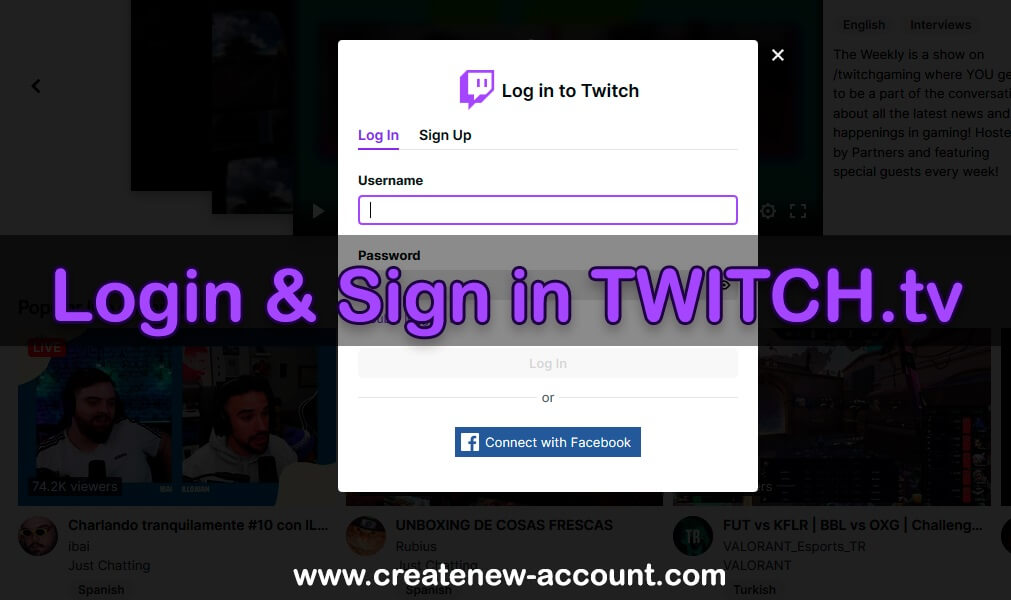 Sign in TWITCH