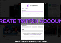 create twitch account