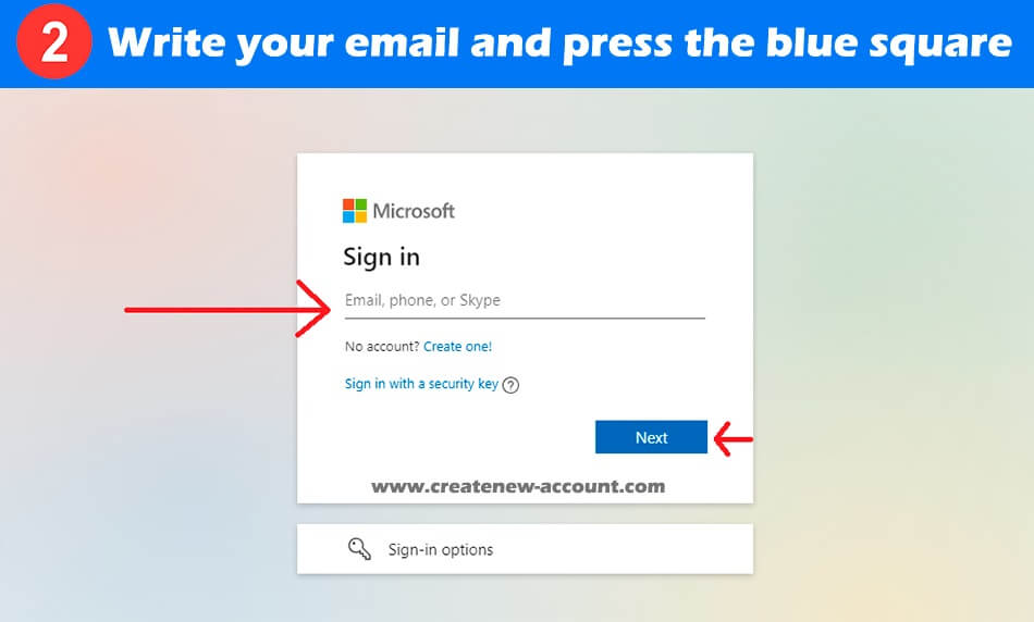 sign in office 365 step 2