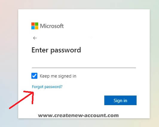 microsoft teams sign in forgot pass