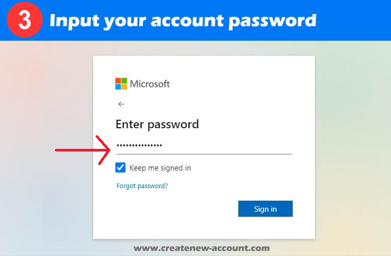 microsoft teams sign in password