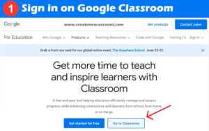Sign in on Google Classroom